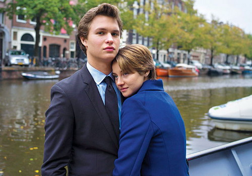 Fault in Our Stars (2014) Ansel Elgort (L) and Shailene Woodley