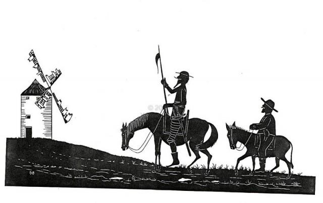 Tranh vẽ Đôn Kihôtê và người hầu Sancho