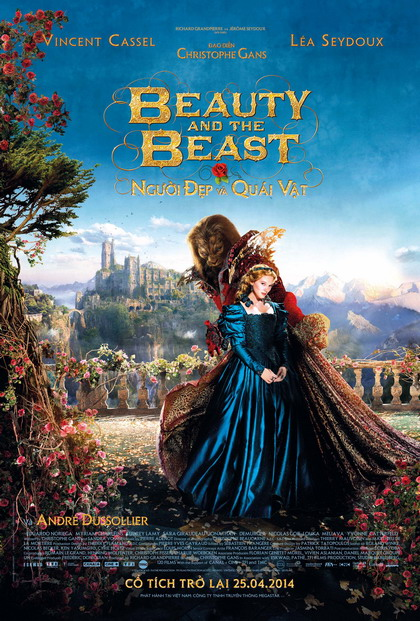 """Poster rực rỡ của phim """"Beauty and the Beast""""."""