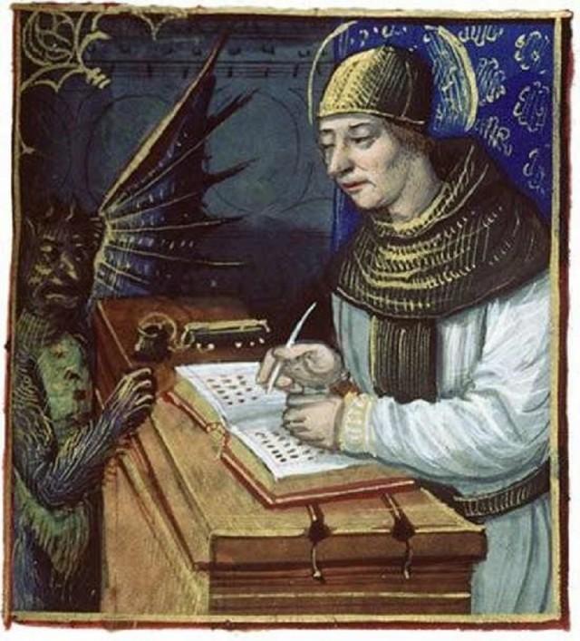 Tương truyền vị tu sĩ đã bán linh hồn mình cho quỷ Satan để có dược cuốn sách