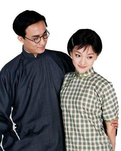 Châu Tấn trong vai Lâm Huy Nhân, Huỳnh Lỗi trong vai Từ Chí Ma trong phim Khúc nhạc tháng tư.