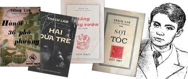 Một số tác phẩm của nhà văn Thạch Lam.