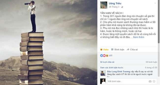 nha van uong trieu 1 Uông Triều: Nhà văn nghiện sách