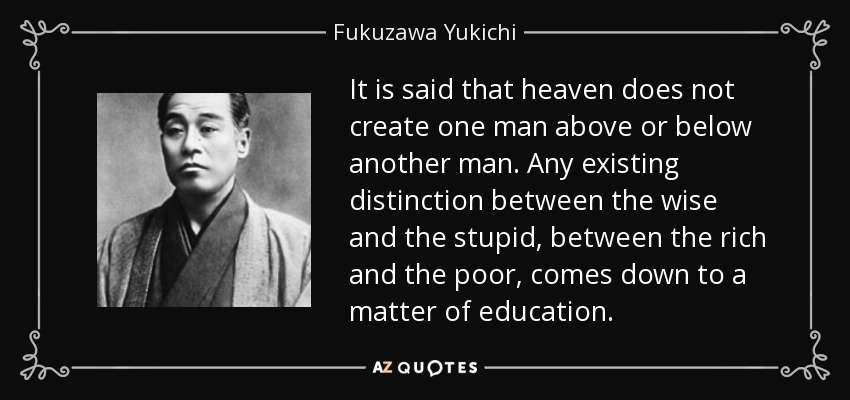 nhan vat YUKICHI FUKUZAWA 2 YUKICHI FUKUZAWA (1835 1901)   Nhà tư tưởng công cuộc duy tân Minh Trị của Nhật bản