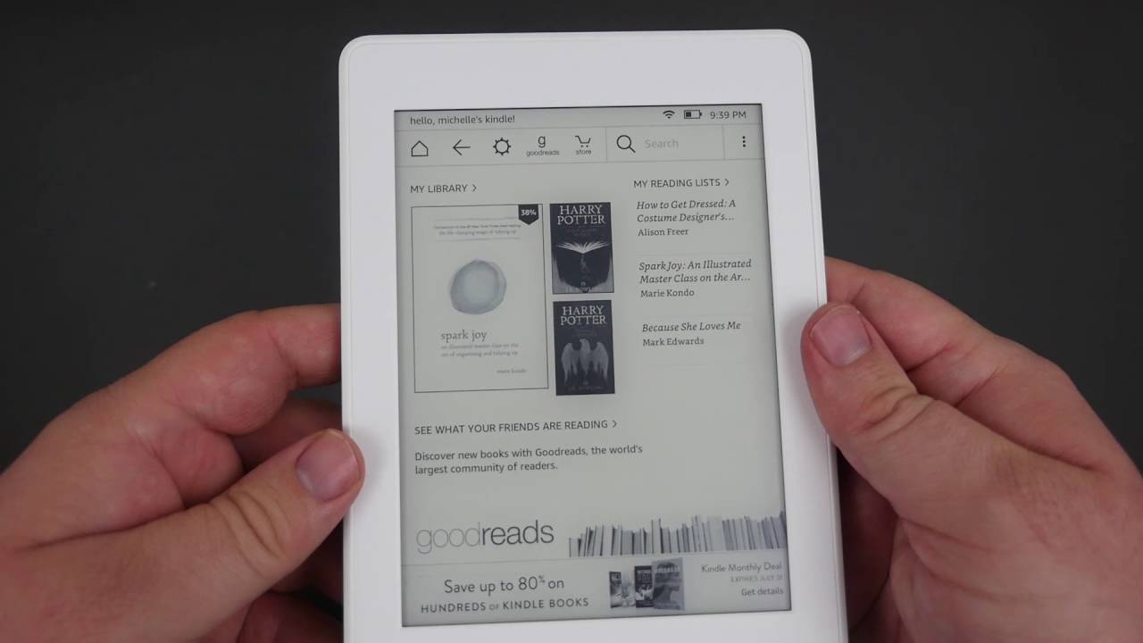 ho tro may doc sach kindle paperwhite 2017 Đánh giá máy đọc sách Kindle Paperwhite 2017