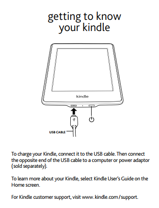 huong dan su dung nhanh Hướng dẫn sử dụng máy đọc sách Kindle