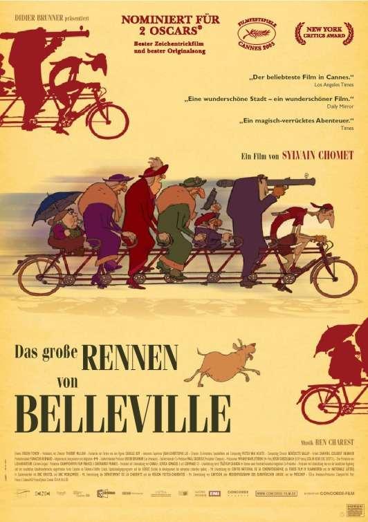 phim The Triplets of Belleville 6 phim hay về xe đạp truyền cảm hứng cuộc sống