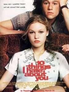 phim 10 Things I Hate About You 1999 224x300 15 phim hay dành cho mọt sách tràn đầy cảm xúc của văn thơ, hội họa, điện ảnh, âm nhạc
