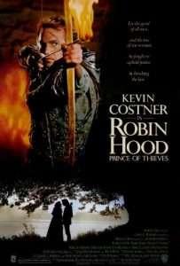 phim Robin Hood Prince of Thieves 203x300 5 phim hay về Robin Hood, chàng hiệp sĩ nghĩa hiệp của nước Anh